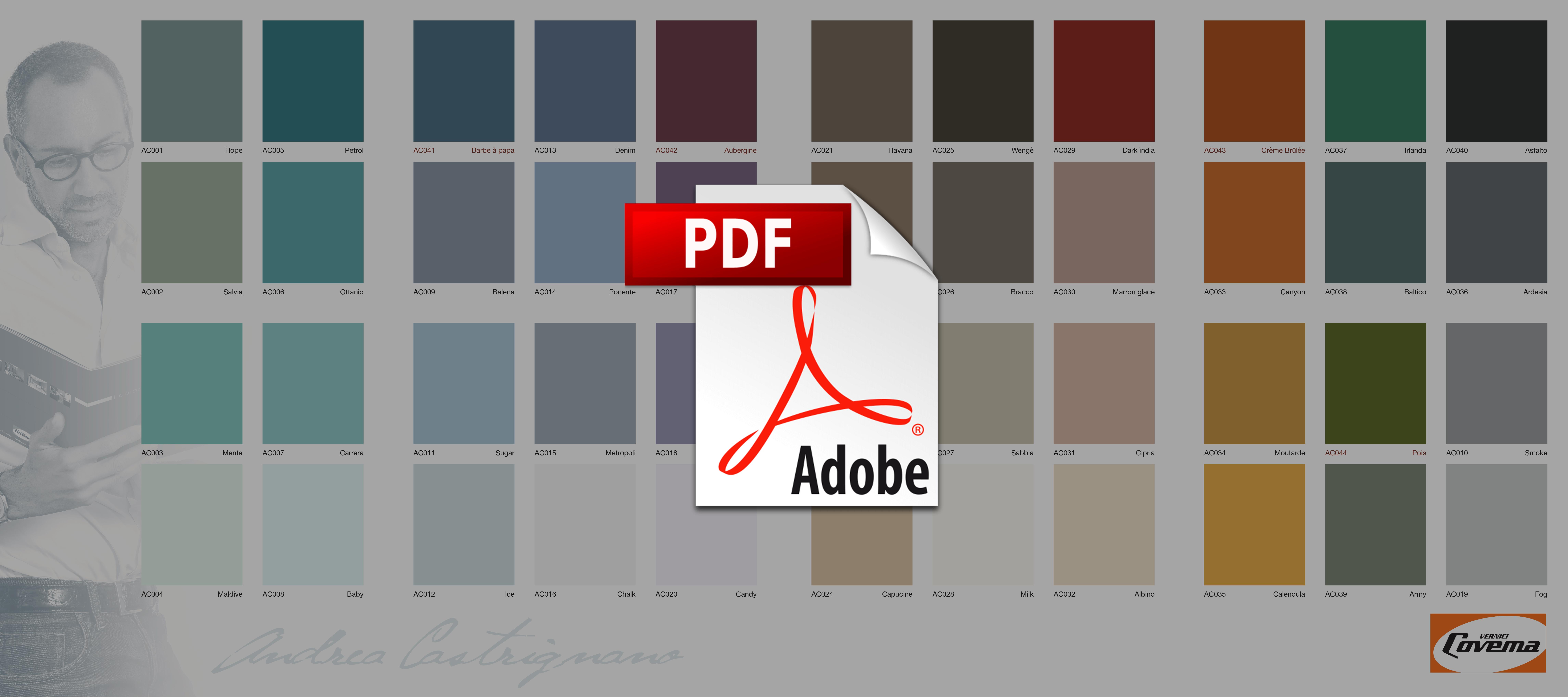 Cartella colori pittura interni for Andrea castrignano colori pareti