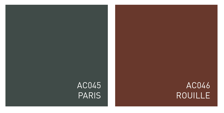 Due nuove nuances: Paris & Rouille